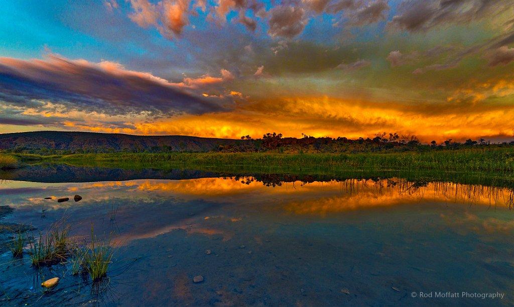 Sunset over Finke River