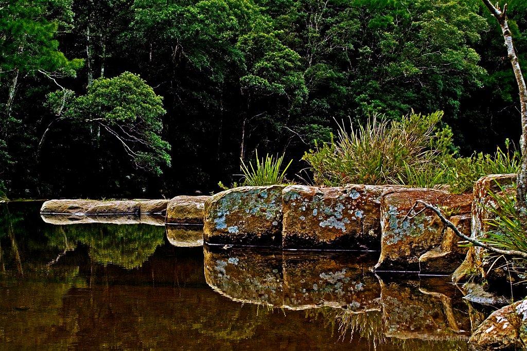 Rock platform in Kangaroo River